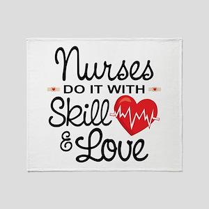 Funny Nurse Throw Blanket