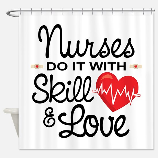 Funny Nurse Shower Curtain