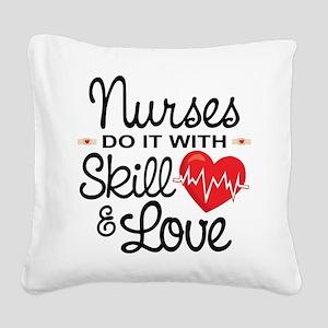 Funny Nurse Square Canvas Pillow