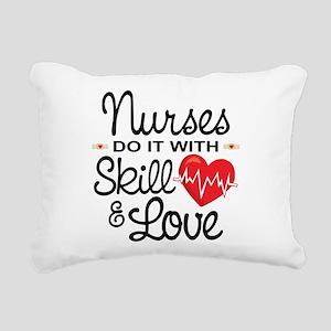 Funny Nurse Rectangular Canvas Pillow