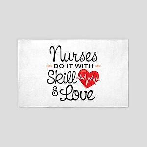 Funny Nurse Area Rug