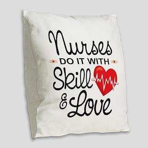 Funny Nurse Burlap Throw Pillow