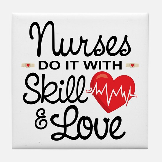Funny Nurse Tile Coaster