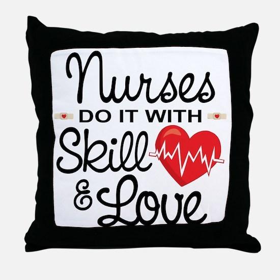 Funny Nurse Throw Pillow