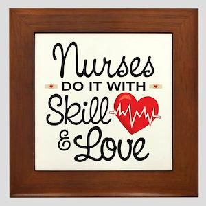 Funny Nurse Framed Tile