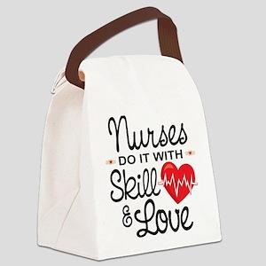 Funny Nurse Canvas Lunch Bag