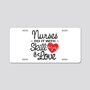 Funny Nurse Aluminum License Plate