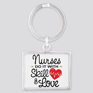 Funny Nurse Landscape Keychain