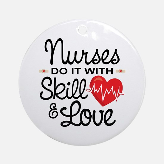 Funny Nurse Round Ornament