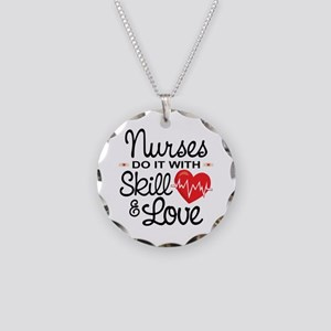 Funny Nurse Necklace Circle Charm