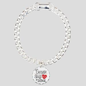 Funny Nurse Charm Bracelet, One Charm