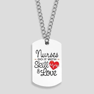 Funny Nurse Dog Tags