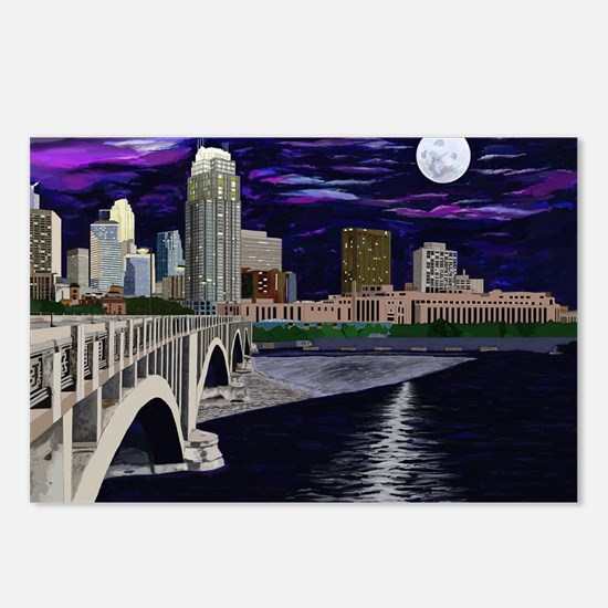Moon Over Minneapolis Postcards (Package of 8)