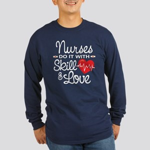Funny Nurse Long Sleeve Dark T-Shirt