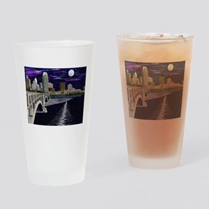Moon Over Minneapolis Drinking Glass
