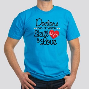 Funny Doctor Men's Fitted T-Shirt (dark)