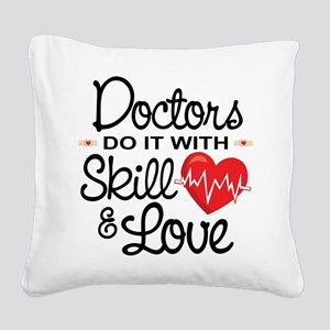 Funny Doctor Square Canvas Pillow