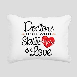 Funny Doctor Rectangular Canvas Pillow