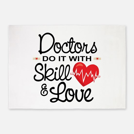 Funny Doctor 5'x7'Area Rug