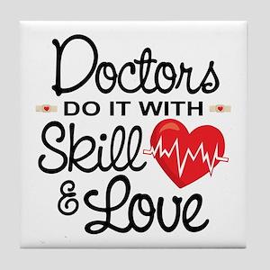 Funny Doctor Tile Coaster