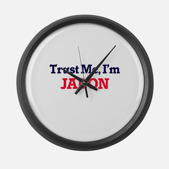 Trust Me, I'm Jadon Large Wall Clock