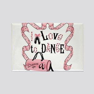 I Love to Dance Rectangle Magnet