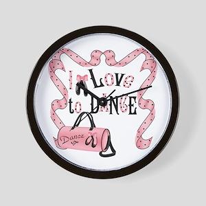 I Love to Dance Wall Clock