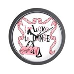 I Love to Dance Wall Clock