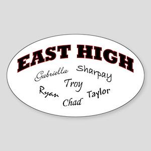 East High Oval Sticker