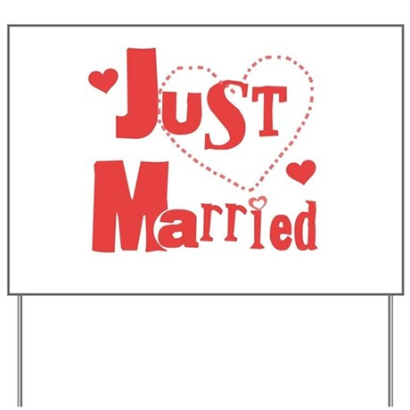 Just Married Red Yard Sign