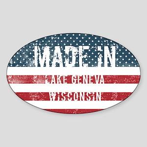 Made in Lake Geneva, Wisconsin Sticker