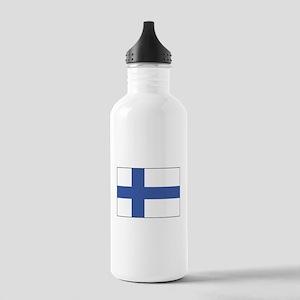 Finland Flag Water Bottle