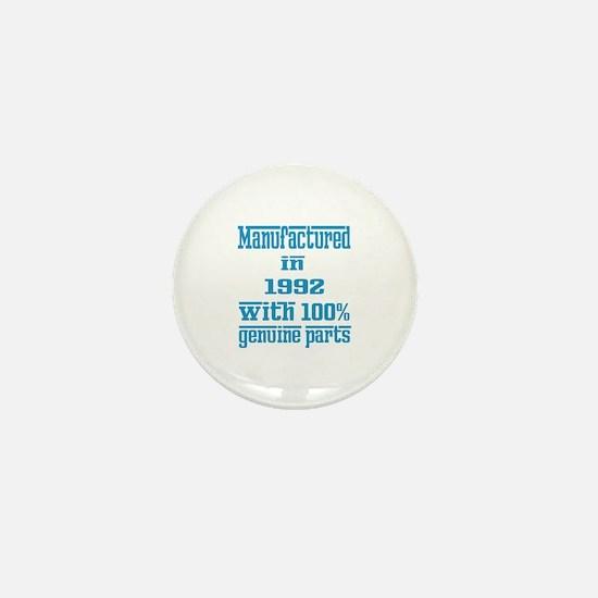 Manufactured in 1992 with 100% Genuine Mini Button
