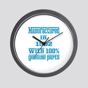 Manufactured in 1992 with 100% Genuine Wall Clock