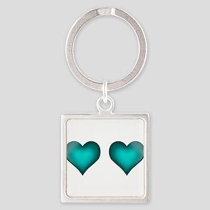 Emerald Hearts Keychains