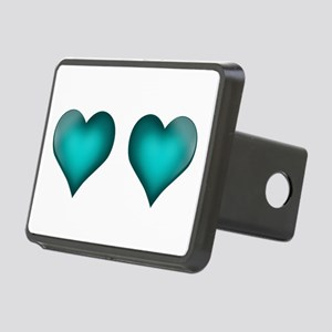 Emerald Hearts Rectangular Hitch Cover