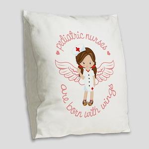 Pediatric Nurse Burlap Throw Pillow