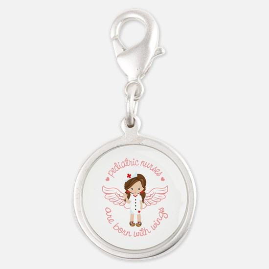 Pediatric Nurse Silver Round Charm