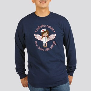 Pediatric Nurse Long Sleeve Dark T-Shirt