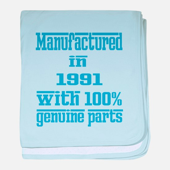 Manufactured in 1991 with 100% Genuin baby blanket