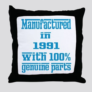 Manufactured in 1991 with 100% Genuin Throw Pillow