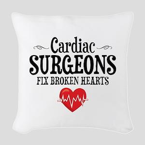 Cardiac Surgeon Woven Throw Pillow