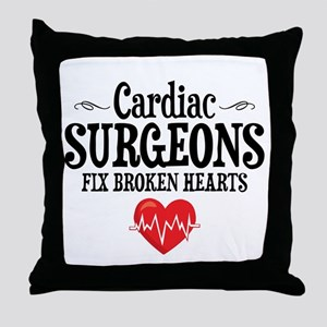 Cardiac Surgeon Throw Pillow