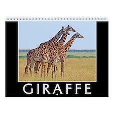 Giraffe Wall Calendar