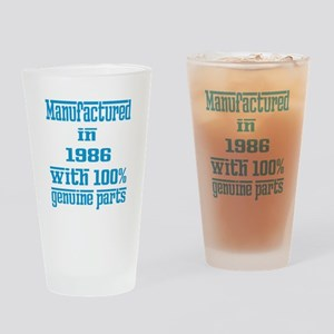 Manufactured in 1986 with 100% Genu Drinking Glass