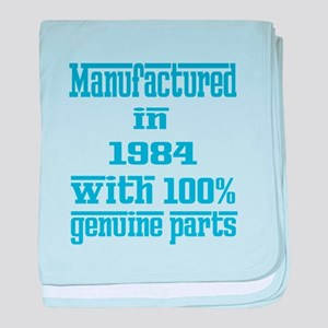 Manufactured in 1984 with 100% Genuin baby blanket