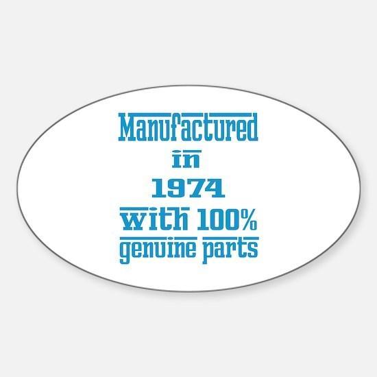 Manufactured in 1974 with 100% Genu Sticker (Oval)