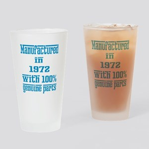 Manufactured in 1972 with 100% Genu Drinking Glass