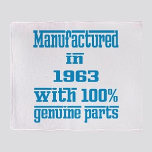 Manufactured in 1963 with 100% Genui Throw Blanket