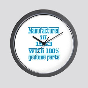 Manufactured in 1963 with 100% Genuine Wall Clock